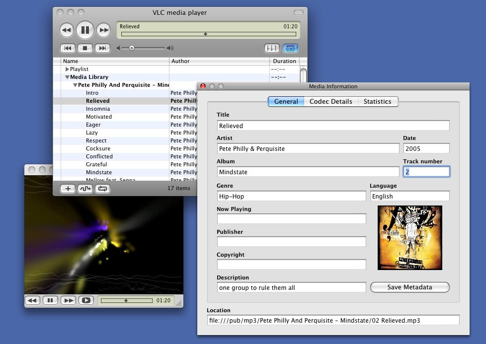Older versions of Mac OS X and VLC media player